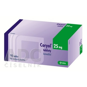 Кориол 25 мг (90 шт)