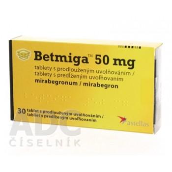 Бетмига 50 мг (30 шт)