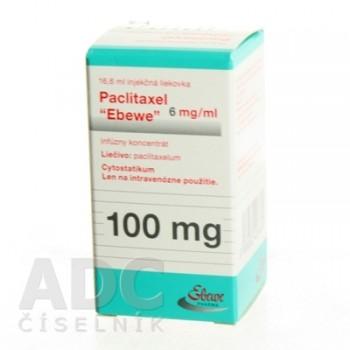 Паклитаксел Эбеве 6 мг/мл конц. д/инф. 100 мг фл. 16.7 мл
