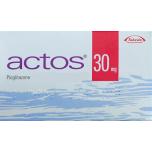 Актос (Пиоглитазон) 30мг, 28 таблеток