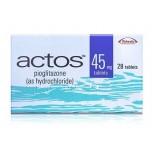 Актос (Пиоглитазон) 45мг, 28 таблеток
