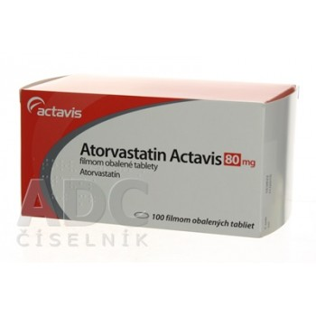 Аторвастатин (Actavis) 80 мг (100 шт)