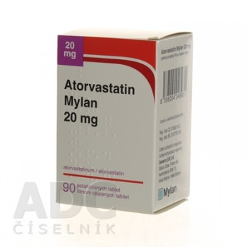 Аторвастатин (Mylan) 20 мг (90 шт)