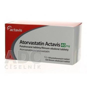 Аторвастатин (Actavis) 40 мг (100 шт)
