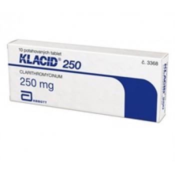 Клацид 250 мг (10 шт)